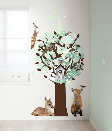 Hoe plak je muurstickers kijk hoe je een boom muursticker plakt - Hoe een boom te verlichten ...