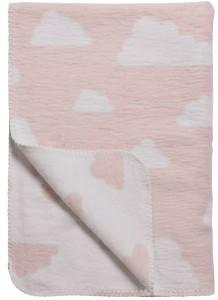 wolken deken roze