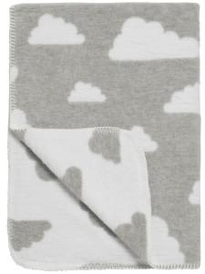 Babydeken wolken grijs