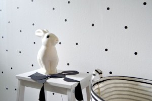 zwart witte babykamer