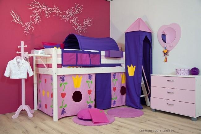 Tijd voor een groot bed lovely flavours - Kleur van meisjeskamers ...