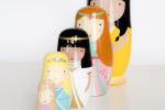 sketch inc. prinsessen nesting dolls