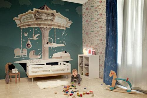 Babykamer Behang Groen : Oud groene babykamer kinderkamer lovely flavours